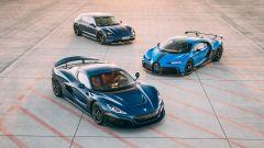 Rimac Nevera, Bugatti Chiron e Porsche Taycan Cross Turismo