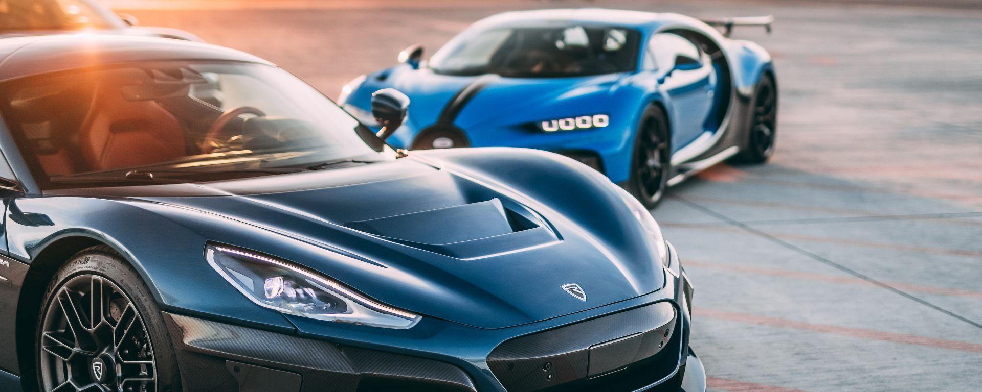 Rimac Nevera e Bugatti Chiron