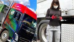 Rino Sasaki: la più famosa autista di camion del Giappone è donna