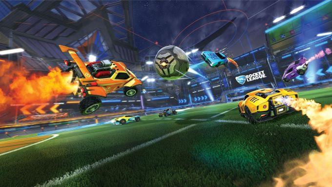 Rocket League: una schermata di gioco