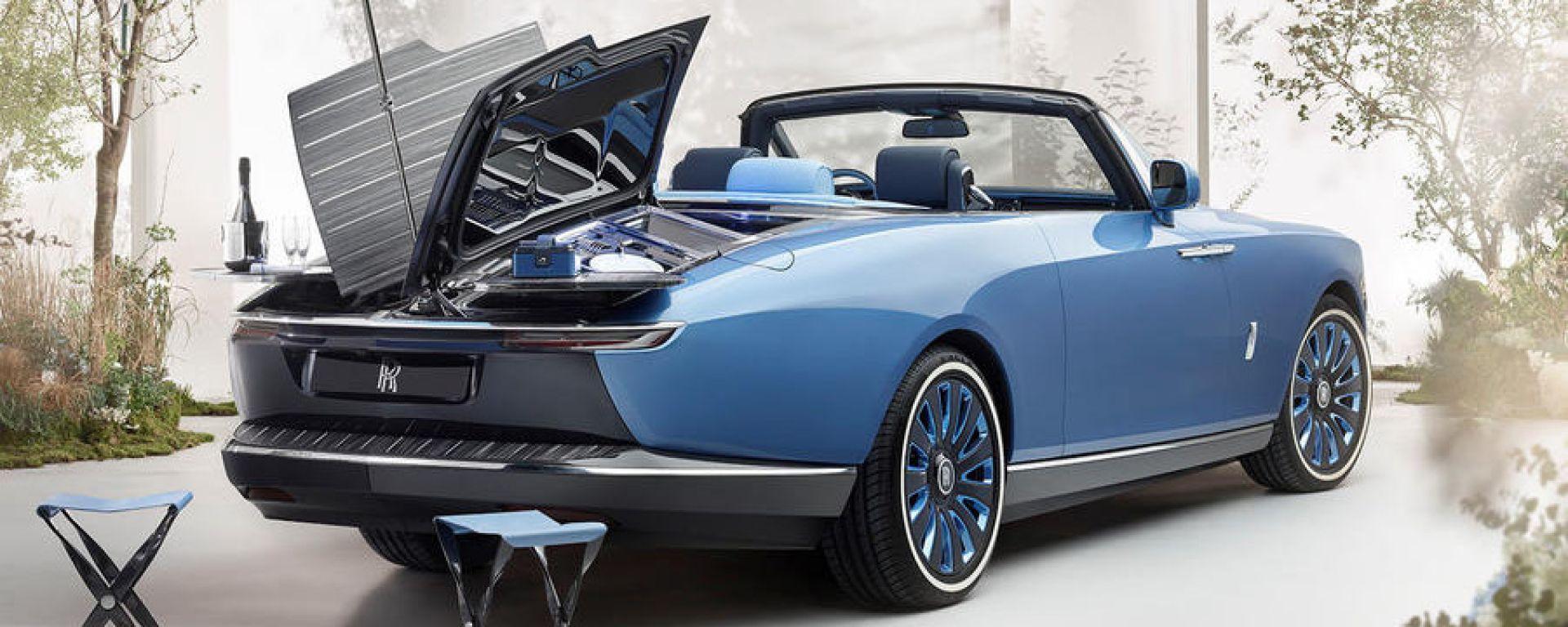 Rolls-Royce Boat Tail: la particolare apertura del cofano posteriore