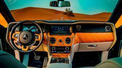 Rolls Royce Cullinan: gli interni, l'abitacolo anteriore