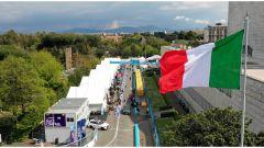 Roma ePrix 2019, la pit-lane del circuito dell'Eur