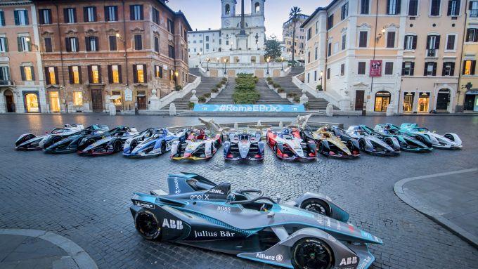 Roma ePrix 2019, le monoposto Formula E in centro città