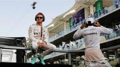 Rosberg e Hamilton - F1 GP Abu Dhabi