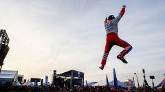 Rosenqvist festeggia la sua vittoria all'ePrix di Marrakesh