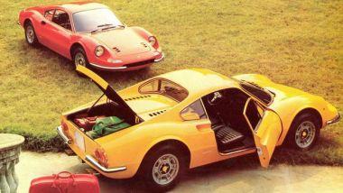 Rossa o gialla? I colori della Ferrari su una 246 GT