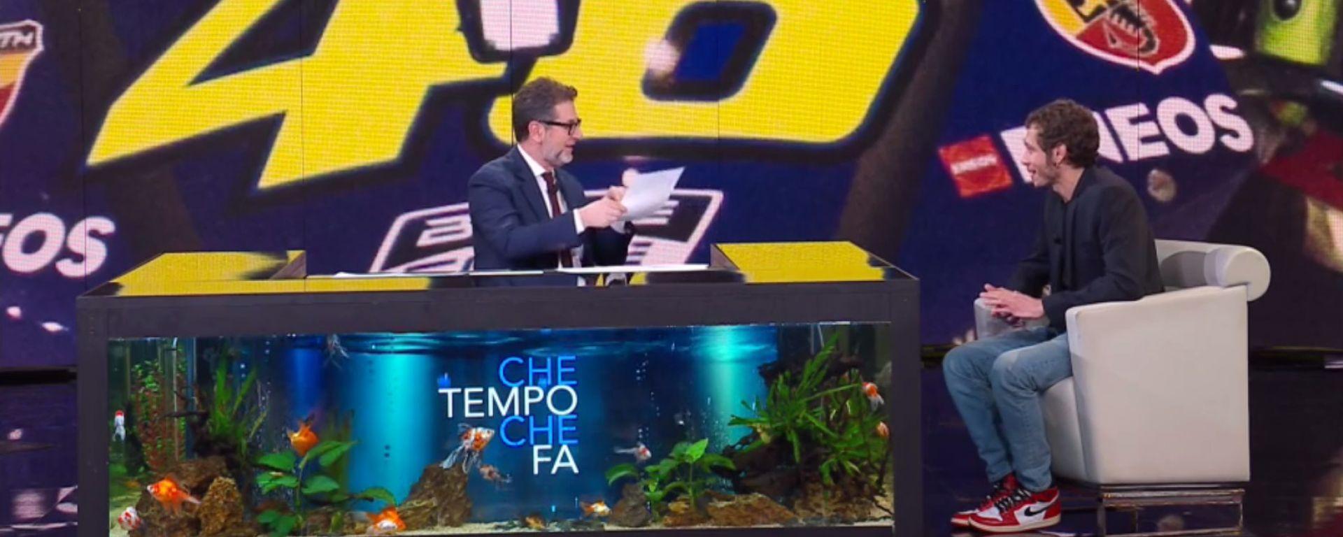 """Rossi da Fazio: """"La Yamaha 2019 sarà un po' interista"""""""