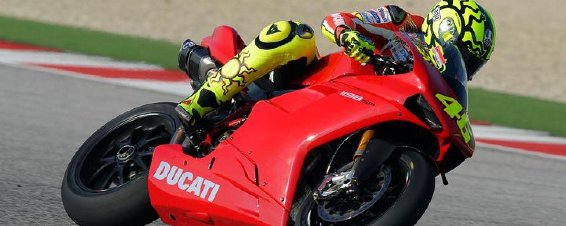 Valentino Rossi a Misano con la 1198 SBK