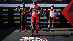 Round Teruel 2020, Alcaniz: il podio della Superpole Race con Redding davanti a Rea e Rinaldi