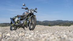 Royal Enfield Bullet Trials: 3/4 anteriore