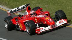 Rubens Barrichello in azione con la Ferrari F2002