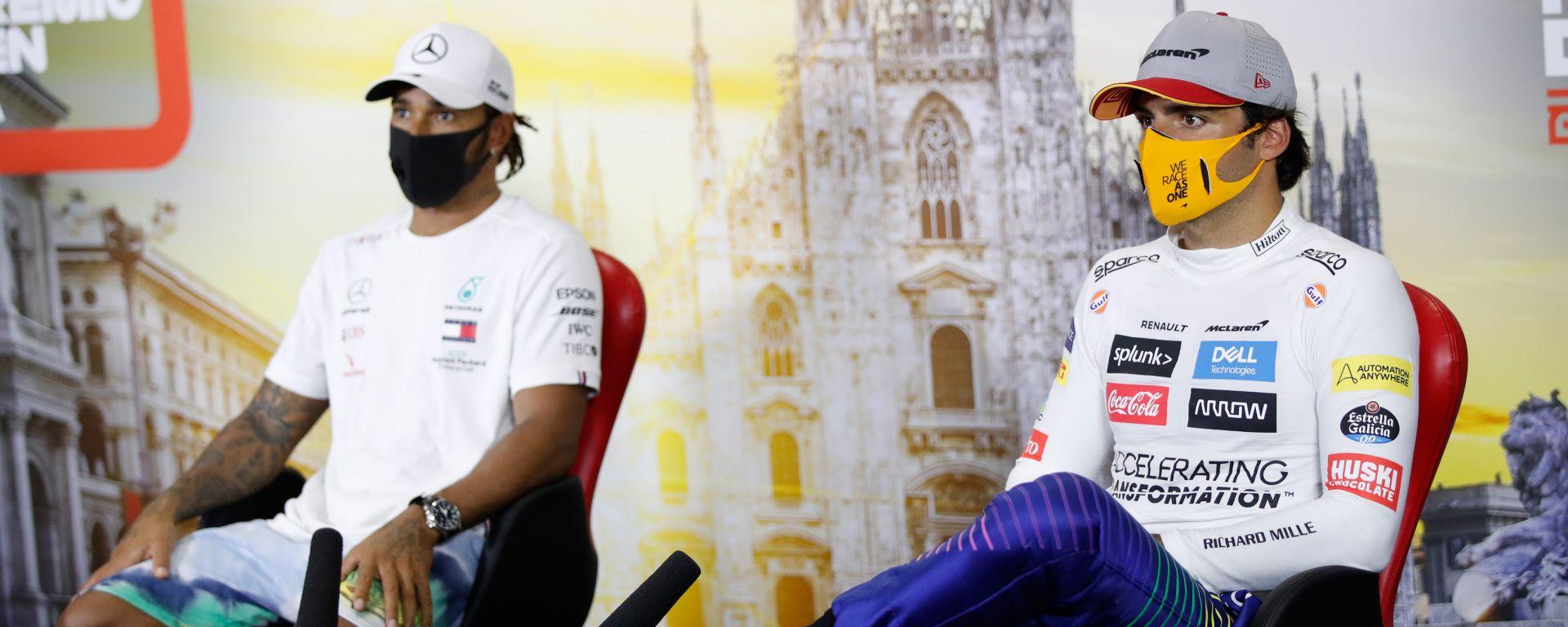 """Sainz non ha dubbi: """"Il 90% dei piloti non batterebbe Hamilton"""""""