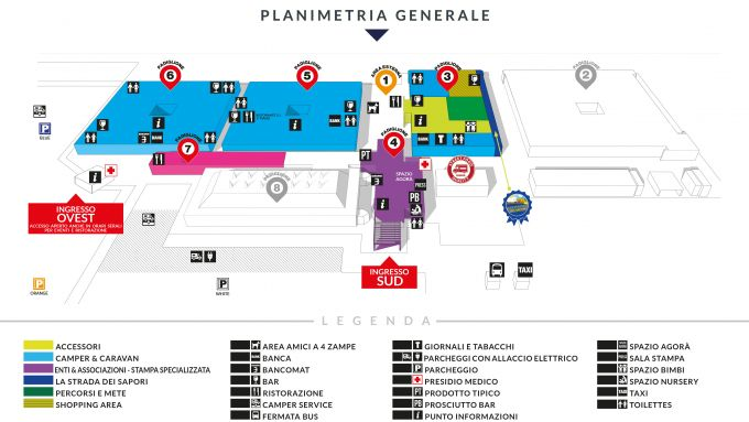 Salone del Camper 2020: planimetria