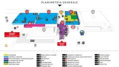 Salone del Camper 2020, planimetria