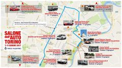 Salone dell'Auto di Torino: la mappa degli eventi dell'edizione 2017