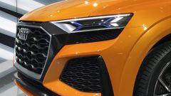 Salone di Ginevra 2017, Audi Q8 Concept, particolare di fari e calandra