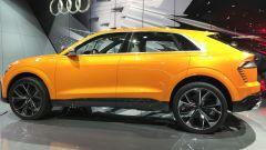 Salone di Ginevra 2017, Audi Q8 Concept, vista laterale