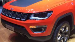Salone di Ginevra 2017, Jeep Compass, particolare del frontale