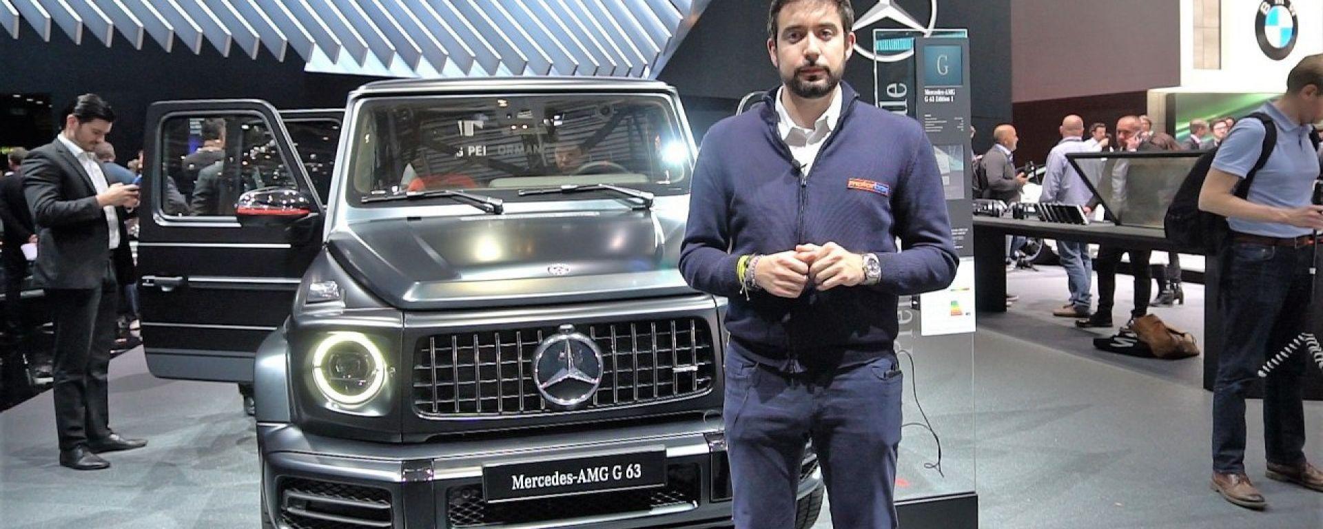 Nuova Mercedes-AMG G63: in video dal Salone di Ginevra 2018