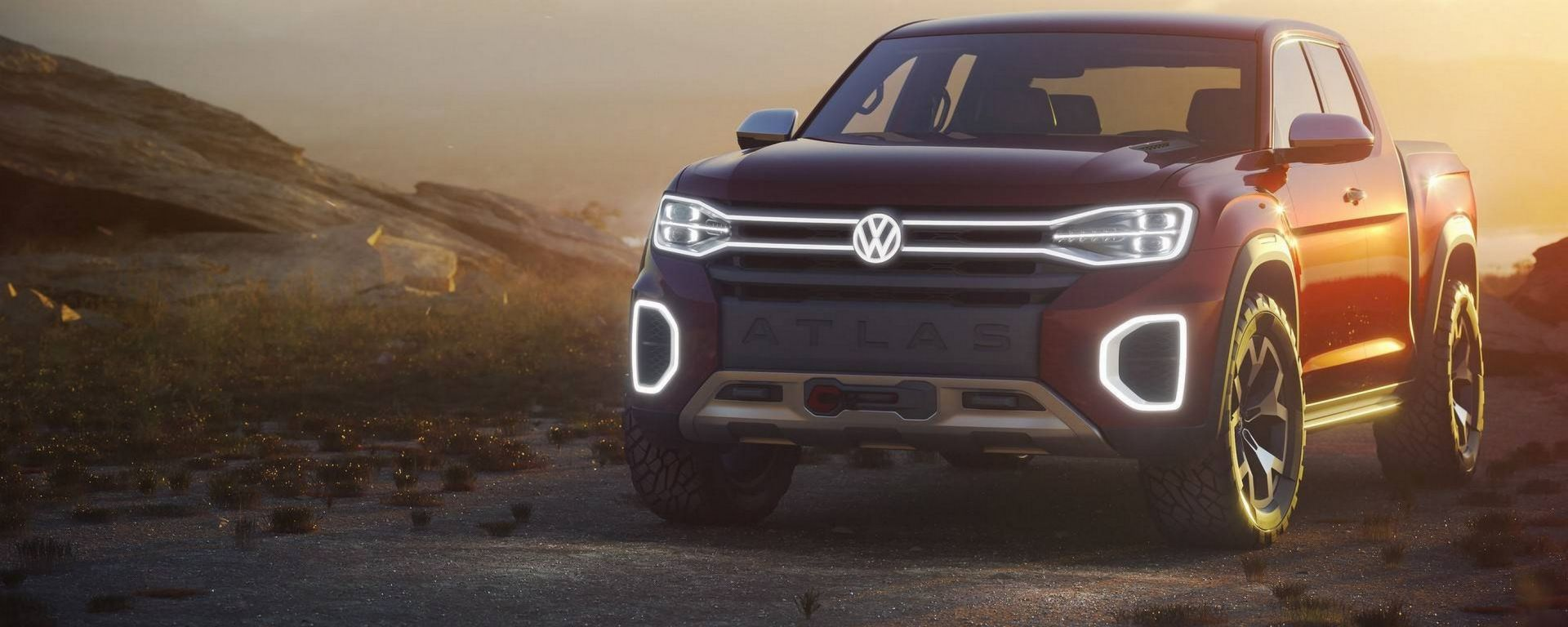 VW Atlas Tanoak Concept: sarà così il nuovo pick-up USA