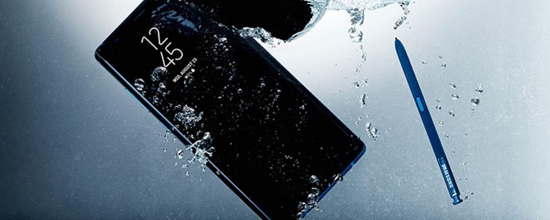 Samsung Galaxy Note 8 è impermeabile secondo lo standard IP68