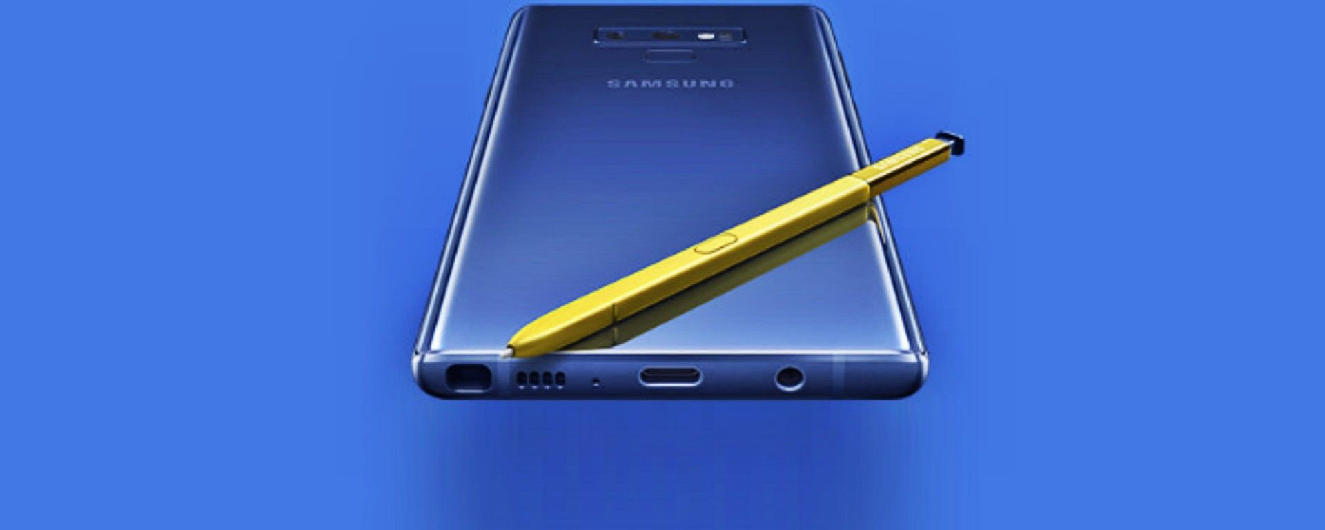 Samsung Galaxy Note 9: il lato B