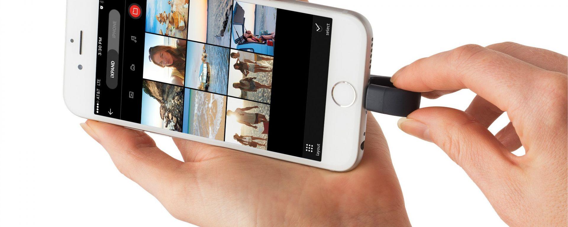 Sandisk iXpand si collega alla presa Lightning dell'iPhone