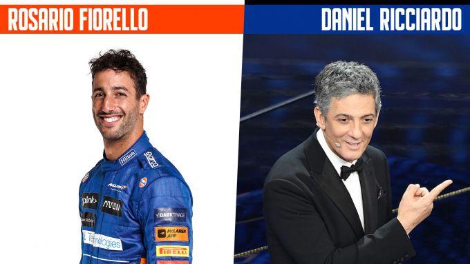 SanremoGP 21: Daniel Ricciardo e Rosario Fiorello