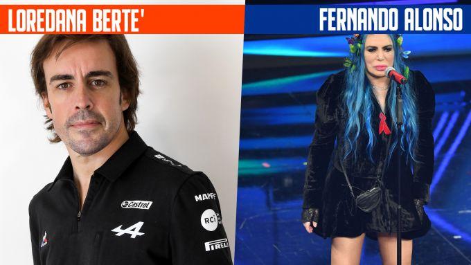SanremoGP 21: Fernando Alonso e Loredana Bertè
