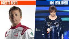 SanremoGP 21: Kimi Raikkonen e Orietta Berti