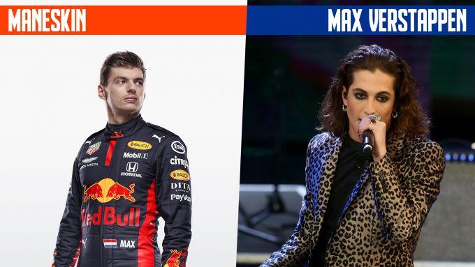 SanremoGP 21: Max Verstappen e i Maneskin