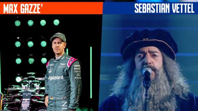 SanremoGP 21: Sebastian Vettel e Max Gazzé