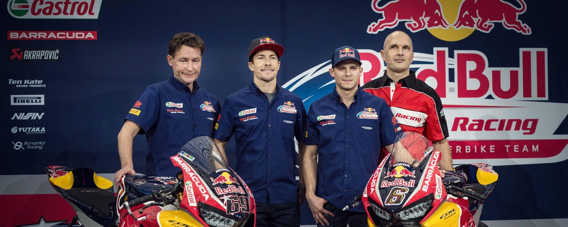 SBK 2017: Nicky Hayden e Stefan Bradl hanno presentato il nuovo Red Bull Honda Superbike Team