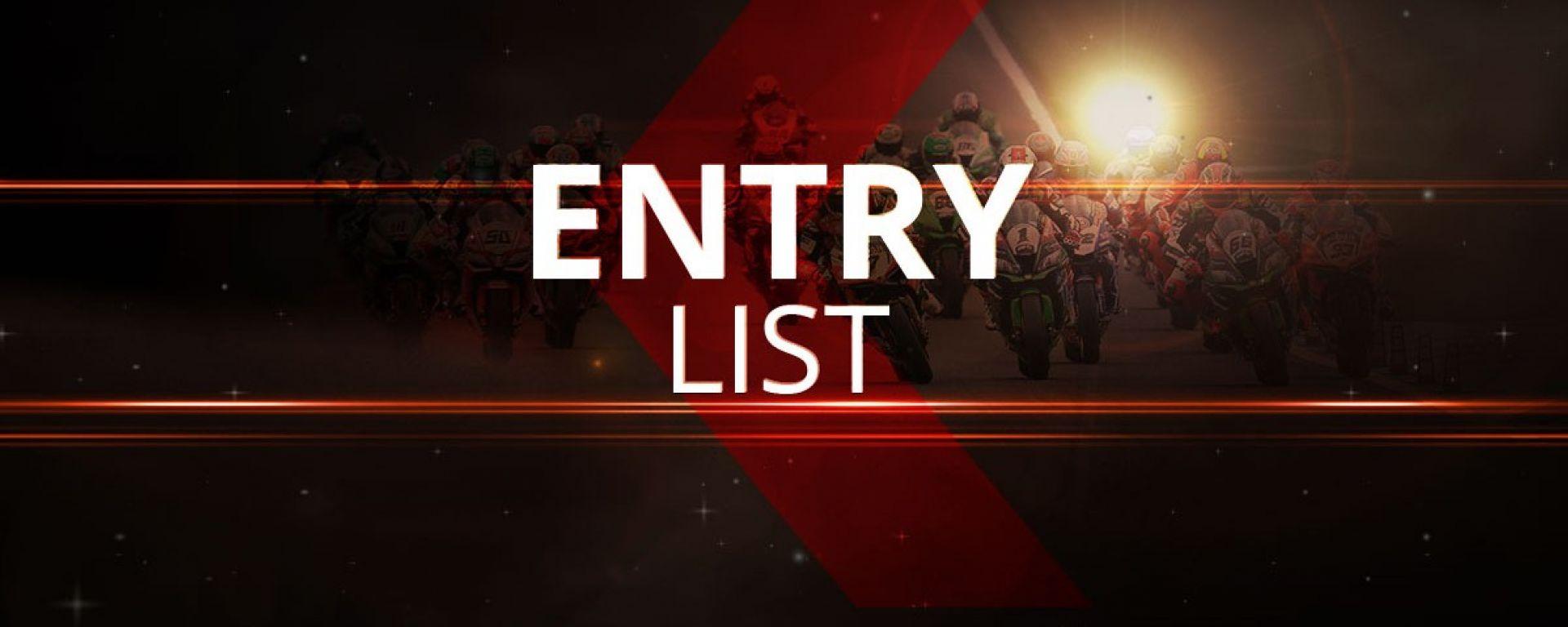 SBK 2018 Entry List