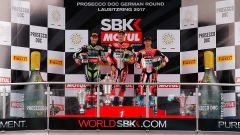 SBK Germania 2017, il podio del Lausitzring