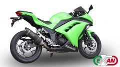 Exan: scarico X-Black Ovale per Kawasaki Ninja 300 - Immagine: 2