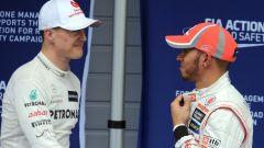 Schumacher e Hamilton nel 2012