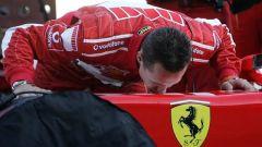 Schumacher e la sua Ferrari