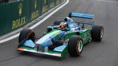 Schumi Jr a Spa con la macchina con cui il padre si laureò campione nel '94
