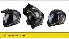 SCORPION ADX-1: le tre configurazioni ( casco in foto: ANIMA Yellow)