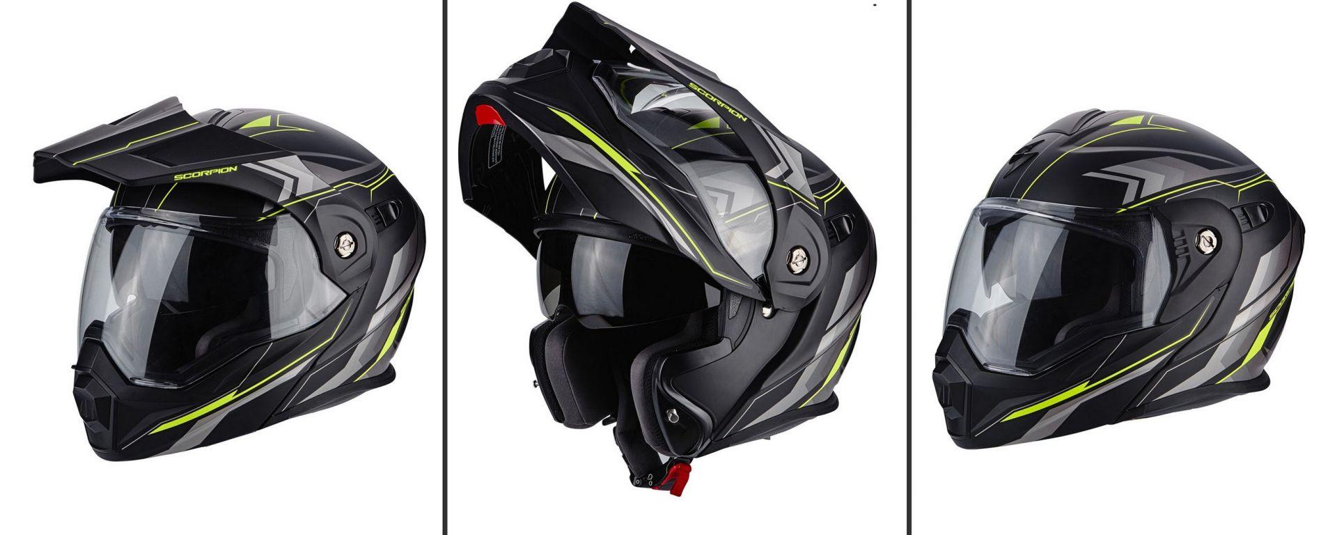 SCORPION ADX-1: le tre configurazioni ( casco in foto: ANIMA Yellow)