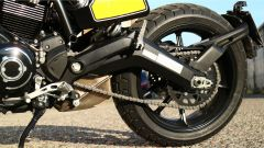 Scrambler Ducati Full Throttle: dettaglio del forcellone