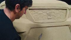 Seat Ateca: un modello in sabbia all'aeroporto di Barcellona - Immagine: 3