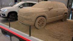 Seat Ateca: un modello in sabbia all'aeroporto di Barcellona - Immagine: 1