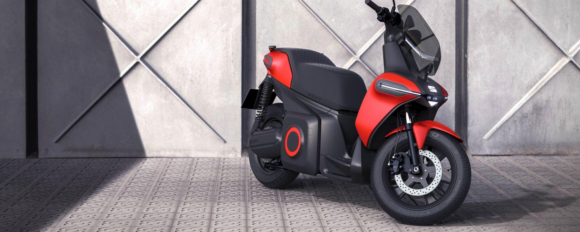 Seat e-Scooter: vista di 3/4 anteriore