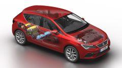 Seat Leon 2019 turbo metano, tre bombole e tanta tecnologia