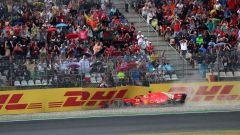 Sebastian Vettel a muro nel GP Germania 2018 su Ferrari