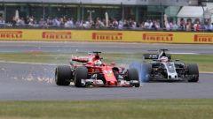 F1 2017: Pirelli conferma la foratura del pneumatico di Vettel a Silverstone