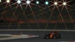 Sebastian Vettel al volante della sua Ferrari SF90 a Sakhir